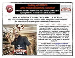 NM Chefs Wanted for Guy's Grocery Games