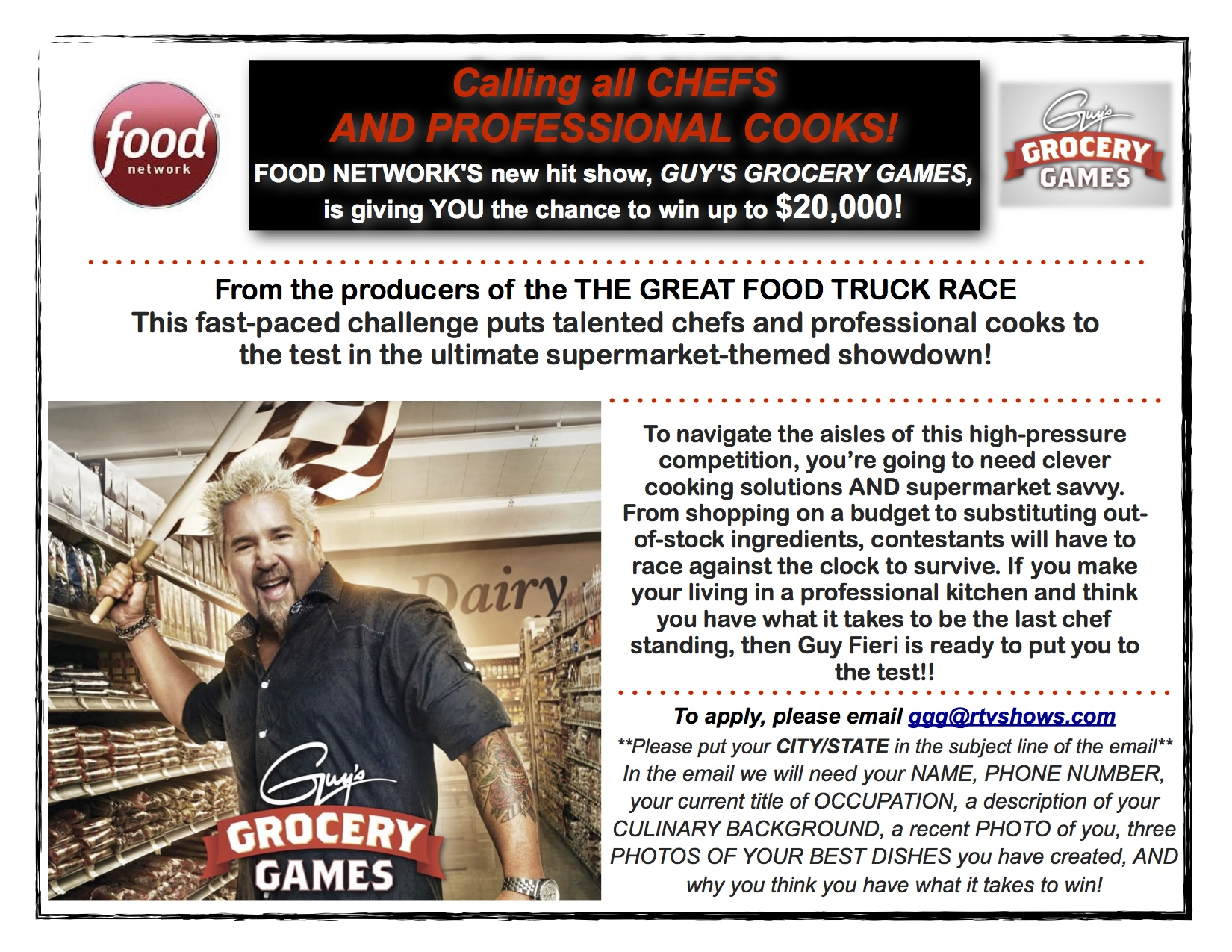 Nm chefs wanted for guys grocery games nmra training pictures of your best plated food a picture of yourself and note whether youve been on tv before be sure to share this with your friends solutioingenieria Choice Image