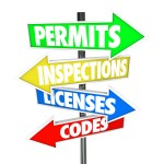 Permits, Inspections, Licenses Codes colorful arrow road signs p