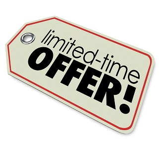Limited Time Offer store price tag merchandise or products spec