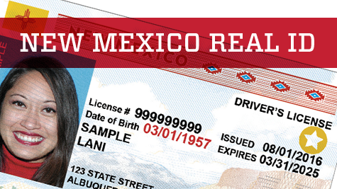 Changes to New Mexico Driver's License and ID Card
