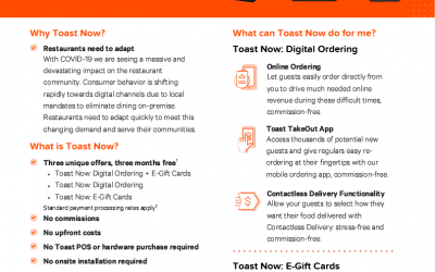TOAST – Online ordering and Gift Cards