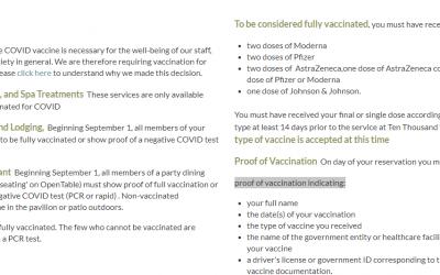 Ten Thousand Waves Requiring Vaccine Proof